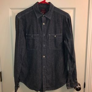 Merona Long Sleeve Jean Button Up